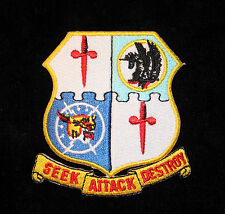 52ND FIGHTER GROUP HAT PATCH US 8TH AIR FORCE PIN UP SEEK ATTACK DESTROY GIFT