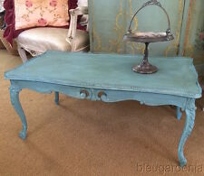 Vintage Cottage Coffee Table ~ Chalkware Paint ~ French Country