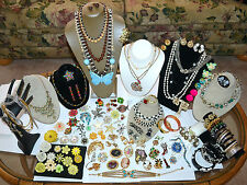 121 PC VINTAGE, MODERN JEWELRY LOT, RHINESTONE BROOCH, ENAMEL FLOWERS, JULIANA