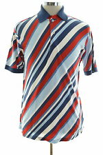 Tommy Hilfiger Mens Polo Shirt Small Multi Stripes Cotton