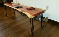 Eastern red cedar wood slab coffee table