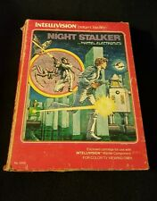 NIGHT STALKER INTELLIVISION GAME CARTRIDGE MATEL ELECTRONICS 1 OVERLAY MANUAL