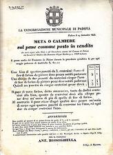 Z950-LOMB.VENETO-PADOVA PREZZO DEL PANE 1849