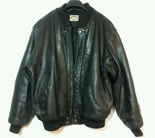 Vintage Black Leather Bomber Jacket Banana Republic Size M