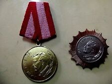 "Albania.Medal +Order Third Class.""Naim Frasheri"". Medals for Cultur."