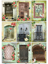 Rustic Doors & Windows  / Card Making Toppers / Embellishment Decoration