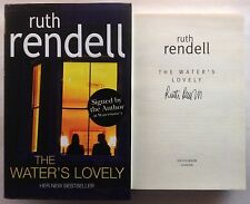 Ruth Rendell Signed Book The Water's Lovely 1st Edition Hardback