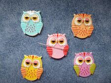 Needle Minder Cute Owl Lots Of Colours Cross Stitch
