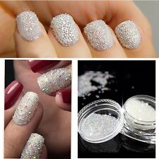 2 Pcs 0.6mm AB Crystal Glass Caviar Beads Tiny 3D Micro Pixie Mermaid Nails Art