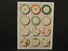 French, France, Porcelain, Dishes, Crystal, Faience, Paris, Catalog Page, !C1#18