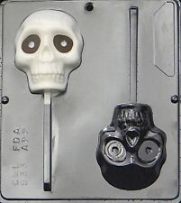 Large Skull Lollipop Chocolate Candy Mold Halloween  933 NEW