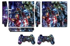 Skin Sticker Cover for PS3 PlayStation 3 Slim and 2 controller skins Q260