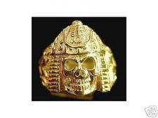 LOOK Samurai Skeleton Warrior Ring Skeletor Gold Plated