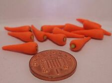 1:12th Dollhouse Miniatures Pack  Of 12 Carrots , Vegetable , Garden
