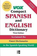 Vox Compact Spanish & English Dictionary, , Good Book