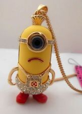 Betsey Johnson Despicable Me Minions Pendant Necklace in Gold, Yellow & Red