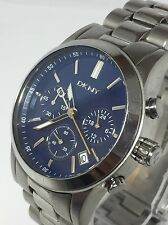 DKNY Chronograph NY8122 Blue Dial Watch For RepairParts Used Condition (D293)
