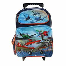 "Disney Cars Planes School Large Rolling 16"" inches Backpack for Kids Licensed"