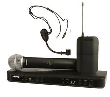 NEW Shure BLX1288/P31 Dual Headset Handheld UHF Wireless Microphone System NEW