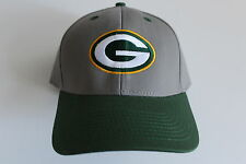 Green Bay Packers NFL Football  Cap Kappe One Size Team Apparel Grey Klett Velcr