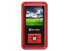 Ematic EM208VID 8 GB Red Flash Portable Media Player - Photo Viewer, Video Playe