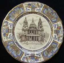 """Masons Ironstone 10"""" Cathedral Christmas Plate: 1982 St Paul's London"""