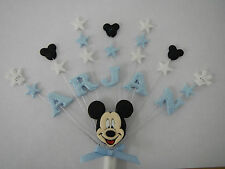 Personalised Mickey mouse birthday, christening cake topper (any name and age)
