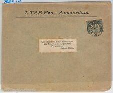 NETHERLANDS Nederland -  POSTAL HISTORY: PERFIN stamps on COVER to ITALY 1901