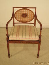 F23871: Edwardian Paint Decorated Cane Back Arm Chair