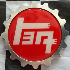USA MADE Aluminum Toyota Grille Badge -  Tacoma / Tundra / 4 Runner - RED TEQ