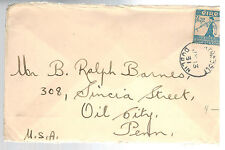 1931 Dublin Ireland Cover to Oil City PA USA