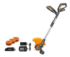 WG160.3 WORX  20V 2.0 MaxLithium Grass Trimmer/Edger/Mini-Mower (2) Batteries