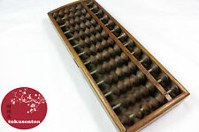 Japonais ABACUS SOROBAN ANTIQUE 100 YEARS WOOD BOIS AUTHENTIQUE MADE IN KYOTO