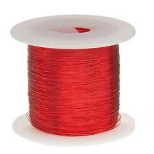 """28 AWG Gauge Enameled Copper Magnet Wire 1.0 lbs 2027' Length 0.0135"""" 155C Red"""