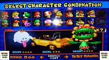 Memory Card Mario Kart & Super Smash Bros Brothers Melee Gamecube 16 MB Unlocked
