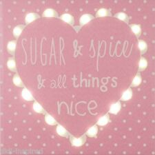 Pink Canvas - Sugar & Spice - Illuminated Led Canvas/Picture 2 Hour Night Light