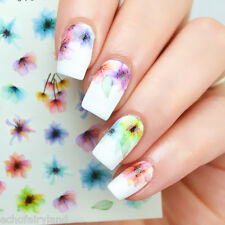 1 Sheet Colorful Nail Art Water Decals Chinese Ink Transfer Stickers DS-310