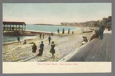 [54485] OLD POSTCARD VIEW OF OCEAN BEACH IN NEW LONDON, CONN. (UNDIVIDED BACK)
