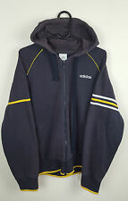VTG RETRO MENS ATHLETIC SPORTS BLUE ADIDAS TRACKSUIT TOP JACKET VGC UK M
