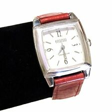 ECCLISSI Sterling Silver Red Leather White Dial Ladies Women's Wrist Watch