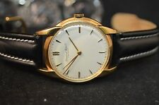 MEN'S SCHAFFHAUSEN  IWC 18K YELLOW GOLD HAND WINDING VINTAGE TIMEPIECE LARGE.36M
