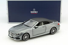1/18 - NOREV - MERCEDES-BENZ S-CLASS CONVERTIBLE 2015 Grey metallic