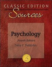 Classic Edition Sources: Psychology, Terry Pettijohn, Good Book