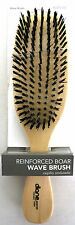 "DIANE REINFORCED BOAR BRISTLE FIRM WAVE BRUSH WOOD HANDLE 9"" (#8159)"