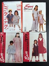 See & Sew/Stitch n Save Assorted Childrens Patterns Size A (2, 3, 4)