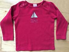 EUC GIRL GYMBOREE WHALE WATCHING RED SAILBOAT TOP TEE SHIRT 3 3T