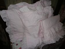 SIMPLY SHABBY CHIC PINK RUFFLED (3PC) FULL/QUEEN DUVET SET COTTAGE COUNTRY