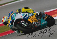 Dominique Aegerter Hand Signed Interwetten Kalex 12x8 Photo 2015 Moto2 4.