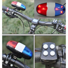 6 LED Sonnette Alarme 4 Tons Lampe Phare Vélo Bicyclette Cloche Sirène Sonore NF