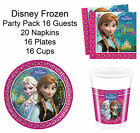 Disney Frozen Party Pack 16 Guests Plates Cups Napkins Table ware Anna Elsa